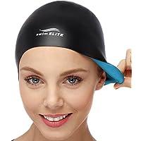 2-IN-1 Premium Silicone Swim Cap - Reversible - Wear It...