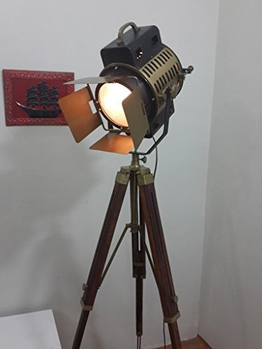 Vintage Studio Theater Spot Light Designer Antique Tripod Search Light Spot Lamp (Studio Vintage)