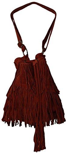 Perano Beutel Tasche - Cartera de mano con asa de Piel para mujer Rojo - rojo