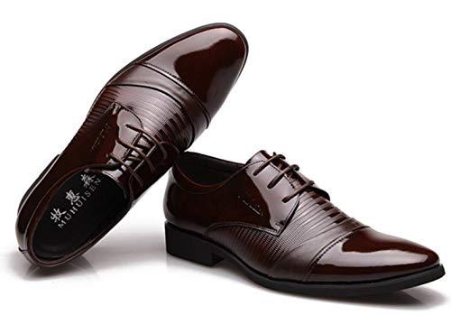 Herren Gentleman Dress Leder Leder Brown Shiney Echtes Hochzeit Schuhe FXfwqFdx1