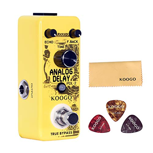Koogo Analog Delay Pedal Delay Guitar Effect Pedal True Bypass Full Metal Shell (Best Delay Pedal For The Money)