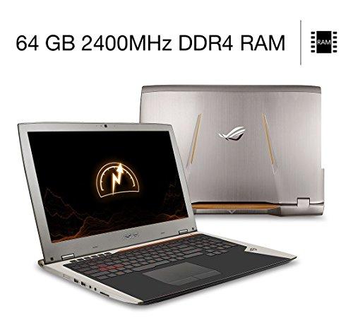 "ASUS ROG Overclocked G701VO-CS74K 17.3"" FHD Gaming Laptop, GTX 980 Overclocked GPU, 64 GB Overclocked DDR4, Overclocked Core i7 CPU, 1 TB NVMe SSD, G-Sync."