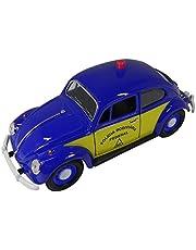 California Toys CAL24202-4, 1967 VW Fusca Policia Rodoviária 1/24, Azul