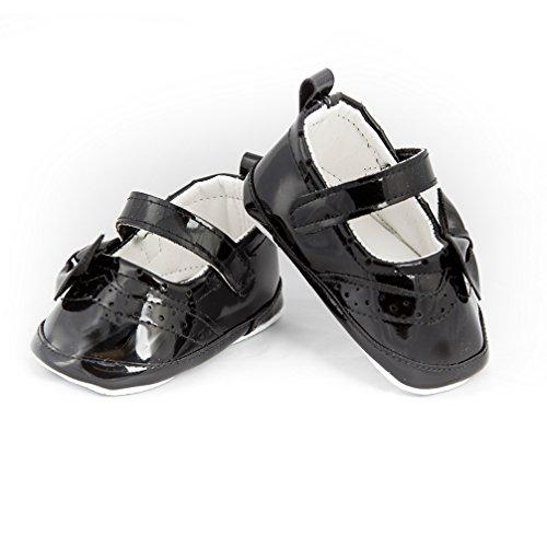 Babyschuhe Ballerinas schwarz Lack Festliche Mädchenschuhe Modell 4693 (19=12 cm)