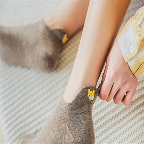 Details about  /Funny Cute Ankle Socks Embroidery Socks Candy Color Women Fashion Cotton Socks