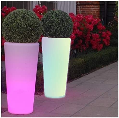 Maceteros con Luz, Led, Multicolor Recargable Portátil 92 cm: Amazon.es: Jardín