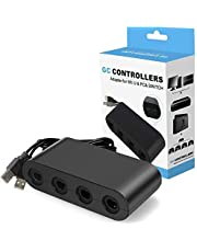Controller Adapter for Gamecube, Super Smash Bros 4 Port Adapter for Wii U, Nintendo Switch, PC. No Need Driver and Easy to Use