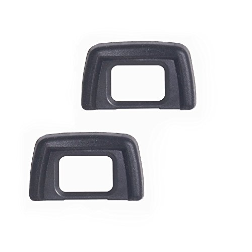 (Bestshoot (2 Pack) Eyecup Eye Cup Eyepiece Viewfinder For Nikon D3400 D5500 D3300 D5100 D3200 D3100 D3000 D5200 D5300 D5000 SLR Camera Replaces Nikon DK-24 Black)