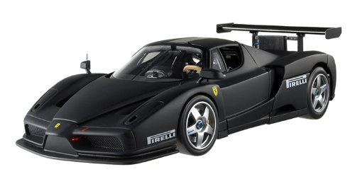 Hot wheels X5488 Ferrari Enzo Monza Test Car 2003 Matt Black Elite Edition 1/18 Diecast Car Model by Hotwheels (Enzo Test)