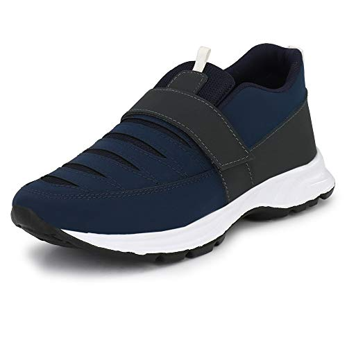 WOODBAY Navy Superfit Mesh Running Shoes