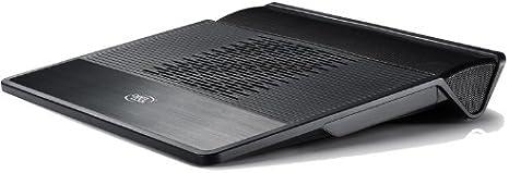 DEEPCOOL portátil refrigeración Pad M3 para Notebook, 140 mm Ventiladores Laptop Cooler/2,1 Altavoces/3,5 mm Jack/8 deg Soporte para portátil/Mesa portátil en Color Negro: Amazon.es: Informática