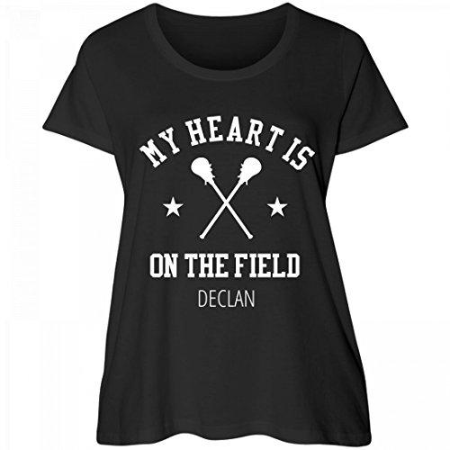 Lacrosse Heart On The Field Declan: Women's Curvy Plus Size Scoopneck - Fields Declan