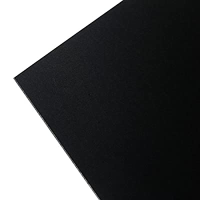 "KYDEX® V - Black 12"" x 12"" x 0.125"" pack of 1 sheet"