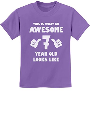 TeeStars - This is What an Awesome 7 Year Old Looks Like Youth Kids T-Shirt Small Violet