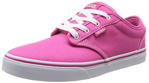 Vans Kids Atwood (Canvas) Magenta/White Skate Shoe 4 Kids US