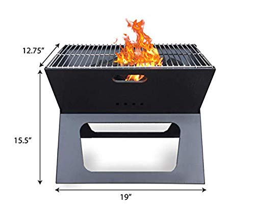 Amazon.com: Vklet Portable Easy Grill - Premium Foldable ...