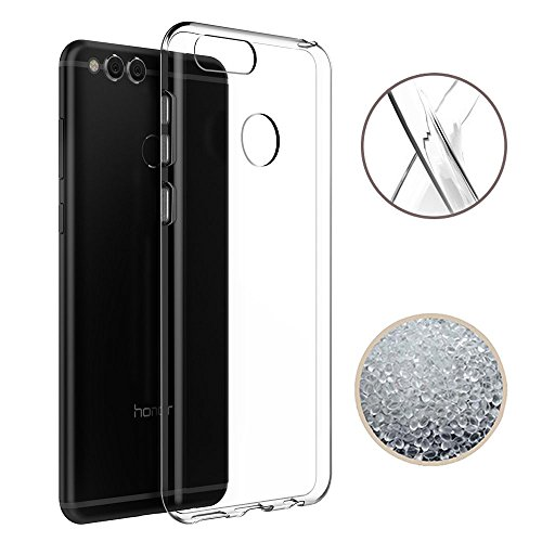Huawei Honor 7X Case, TopACE Ultra Thin Transparent Soft Gel TPU Silicone Case Cover for Huawei Honor 7X (Clear)