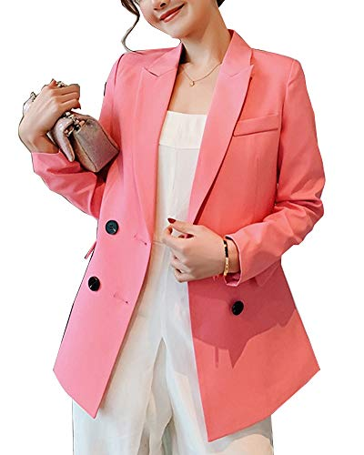 Giacca giacca doppia rosa uomocolore fibbia da per uomo con da solidocolore wkXuZiPTOl