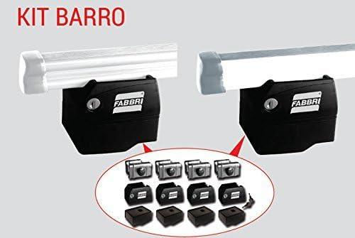 KIT 2 BARRE PORTATUTTO CON ANTIFURTO BARRO VEICOLI COMMERCIALI DOBLO dal 2010