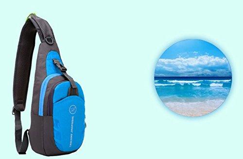 kimberleystore Wandern Camping Nylon Herren Brust Messenger Sports Diagonal Paket Schulter Pack
