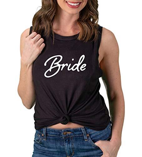 Funky Junque TGWED-BRIDE-06L - Bride Tank Top - Bride - Black (L) (Leather Jacket Black Veil Brides)