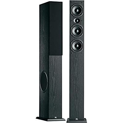 "JBL Loft 50 Three-Way Dual 6-1/2"" Floorstanding Loudspeaker - Pair (Black) by JBL"