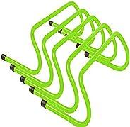 Trademark Innovations 6-Inch Speed Training Hurdles Pack of 5-Light Green