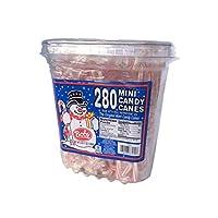 Bobs Red & White - Mini bastones de caramelo de menta, 280 Count Tub, 43 oz
