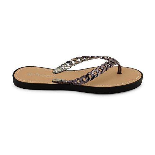 Footwear Sensation - Sandalias para mujer Negro - negro/gris