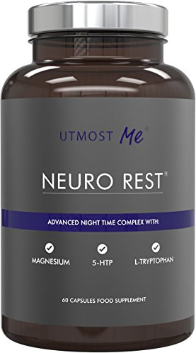 5-HTP + Magnesium + Natural Melatonin Sleeping Aid - Montmorency Cherry,...
