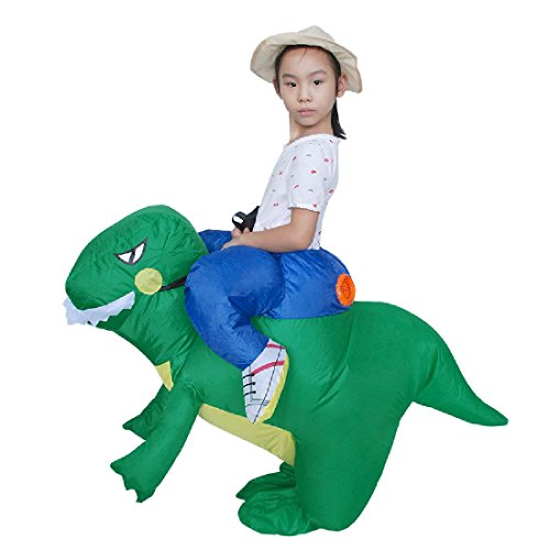 Good Horse And Rider Halloween Costumes (Birthday Gift Toy Inflatable Dinosaur Costume Children Size Dino Rider)