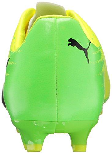 PUMA Männer Evospeed 17.4 FG Fußballschuh Sicherheit Gelb-Puma Schwarz-grüner Gecko