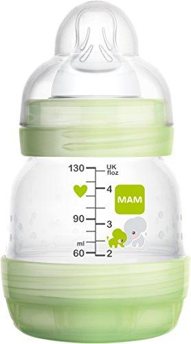 Mam Anti-colic Self-sterilising Bottle 130ml - White