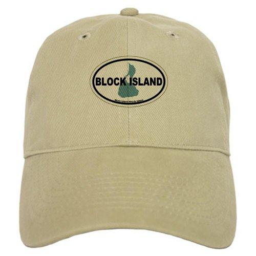 CafePress Block Island RI Oval Design. Baseball Cap with Adjustable Closure, Unique Printed Baseball Hat Khaki