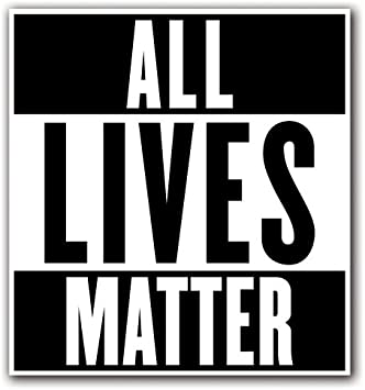 Amazon.com: CUSTOMI ALL LIVES MATTER Custom Decal Sticker for Car ...