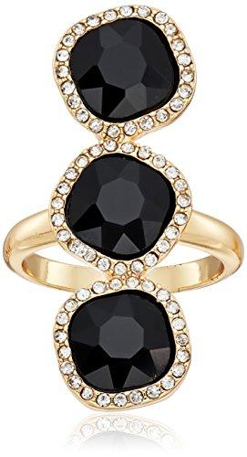 t-tahari-gold-jet-crystal-3-stone-ring-size-7