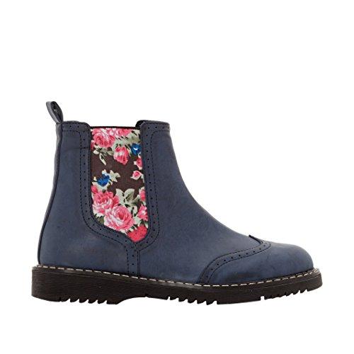 Abcd'r Mdchen Boots, Dehneinsatz, Blumenprint Gre 28 Blau