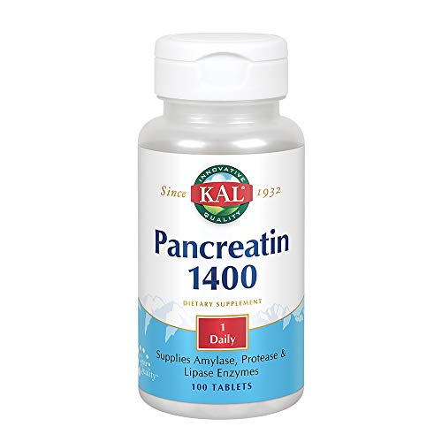 KAL 1400 Mg Pancreatin Tablets, 100 Count