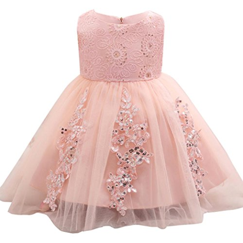 METFIT Baby Girls Dress, Princess Formal Gown Party Wedding Flowers Girl Dress (Pink, - The Sun Malaysia Online