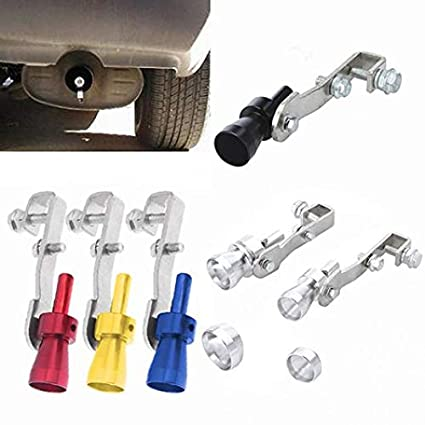 MoO1deer Universal Car Turbo Sound Muffler Exhaust Pipe Blow-Off Vale Simulator Whistle for Your Love Car Black M
