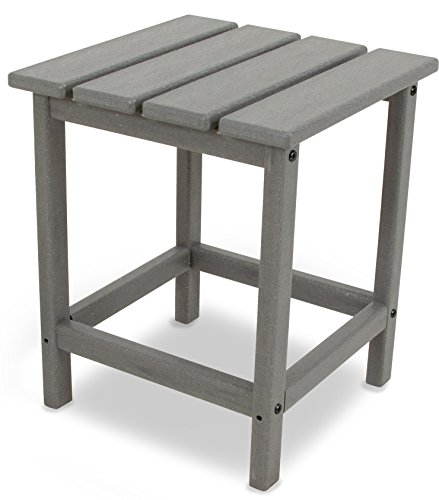 (POLYWOOD ECT18GY Long Island Side Table, 18-Inch, Slate Grey)