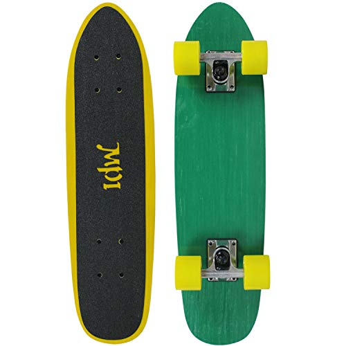 - MPI Complete Vintage Skateboard NOS Fiberglass Green/Yellow 6.75