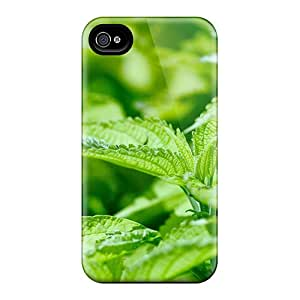 Ultra Slim Fit Hard MarilouLCarlson Case Cover Specially Made For Iphone 4/4s- Fresh Leaves