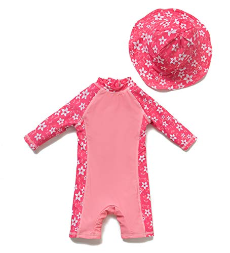 Baby/Toddler Girl One Piece Swimsuit with UPF 50+ Sun Protection (Pink2, 3-6 Months)