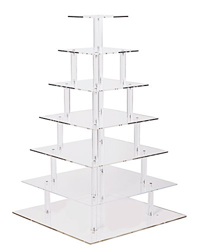 Large 7 Tier Wedding Party Cupcake-Cake and Dessert Tower - 18 Inches Cake Stand (7S) (Large 7 Tier Version 2)