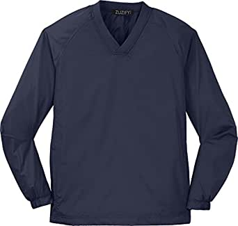 ZUZIFY Tall V-Neck Raglan Windshirt. CN0532 XXXX-Large Tall True Navy