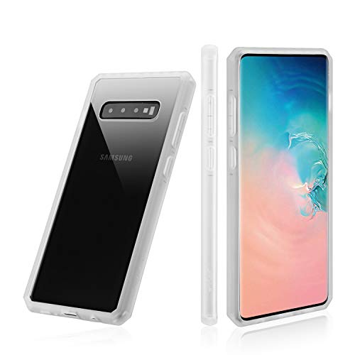 Galaxy S10 Clear Phone Case , OneLeaf Slim Fit Transparent Acrylic Protective Case with Shockproof TPU Bumper Reinforced Corners Case Cover,Wireless Charging Supported