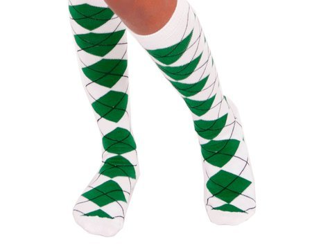Full Argyle FootGolf Socks (Green-White)