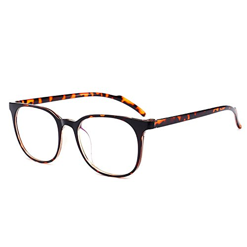 - ANRRI Blue Light Blocking Computer Glasses for Anti Eyestrain Anti Glare Lens Lightweight Frame Eyeglasses Leopard Frame, Men/Women