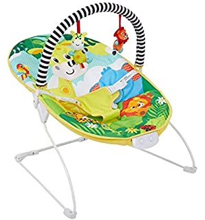 lyrlody Rocking Chair,New Born Toddler Rocker Bouncer Soft Fabric Baby Swing Chair Rocking Chair with Music and Hanging Toys for Baby Kids Boys Girls,28.7x22x19.3inch Blue